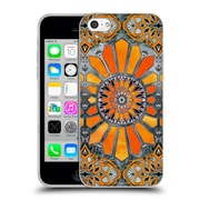 Official Micklyn Le Feuvre Patterns 3 Celebrating The Seventies Tangerine Orange Soft Gel Case For Apple Iphone 5C