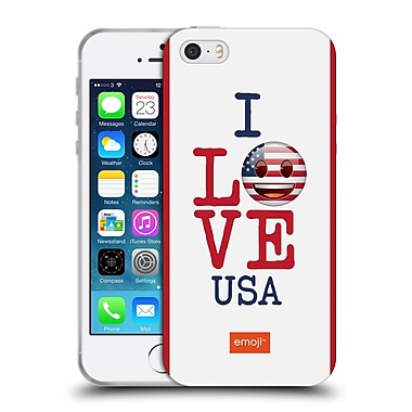 Official Emoji I Love My Country Usa Soft Gel Case For Apple Iphone 5 / 5S / Se