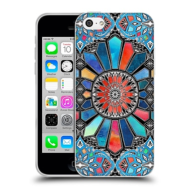 Official Micklyn Le Feuvre Patterns 3 Iridescent Watercolour Brights On Black Soft Gel Case For Apple Iphone 5C