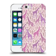 Official Micklyn Le Feuvre Wildlife Pink Giraffes Soft Gel Case For Apple Iphone 5 / 5S / Se