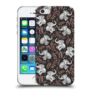Official Micklyn Le Feuvre Wildlife Little Laughing Elephants In Coral And Grey Soft Gel Case For Apple Iphone 5 / 5S / Se