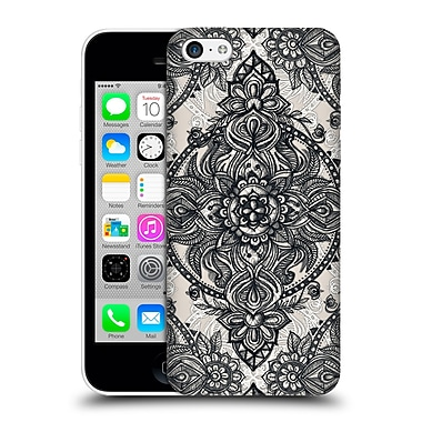 Official Micklyn Le Feuvre Mandala 3 Charcoal Lace Pencil Doodle Hard Back Case For Apple Iphone 5C
