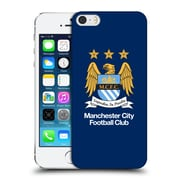 Official Manchester City Man City Fc Crest Full Colour Obsidian Blue Hard Back Case For Apple Iphone 5 / 5S / Se