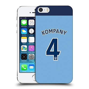 Official Manchester City Man City Fc Player Home Kit 2016/17 Group 1 Kompany Hard Back Case For Apple Iphone 5 / 5S / Se