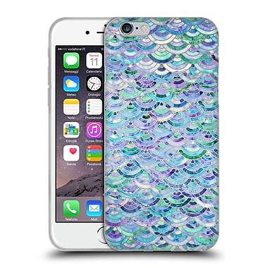 Official Micklyn Le Feuvre Marble Patterns Mosaic In Sapphire And Emerald Soft Gel Case For Apple Iphone 6 / 6S
