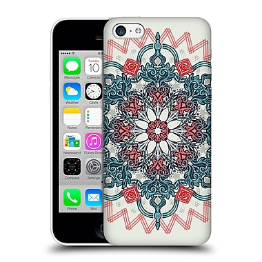 Official Micklyn Le Feuvre Mandala 3 Coral And Teal Tangle Medallion Hard Back Case For Apple Iphone 5C