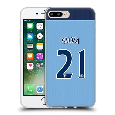Official Manchester City Man City Fc Player Home Kit 2016/17 Group 2 Silva Soft Gel Case For Apple Iphone 7 Plus