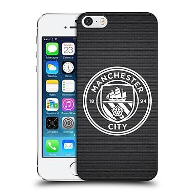 Official Manchester City Man City Fc Badge Pixels Black Tile White Mono Hard Back Case For Apple Iphone 5 / 5S / Se