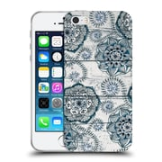 Official Micklyn Le Feuvre On Wood Shabby Chic Navy Blue Doodles Soft Gel Case For Apple Iphone 5 / 5S / Se
