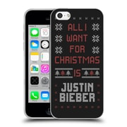Official Justin Bieber Knitted Christmas All I Want For Christmas Soft Gel Case For Apple Iphone 5C