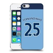 Official Manchester City Man City Fc Player Home Kit 2016/17 Group 2 Fernandinho Hard Back Case For Apple Iphone 5 / 5S / Se