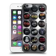 Official Ac/Dc Acdc Button Pins Songs Hard Back Case For Apple Iphone 6 / 6S