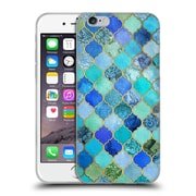 Official Micklyn Le Feuvre Moroccan Aqua And Gold Soft Gel Case For Apple Iphone 6 / 6S