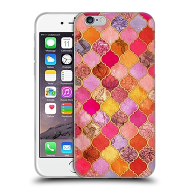Official Micklyn Le Feuvre Moroccan Hot Pink And Orange Soft Gel Case For Apple Iphone 6 / 6S