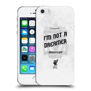 Official Liverpool Football Club Klopp Quotes Not A Dreamer White Soft Gel Case For Apple Iphone 5 / 5S / Se