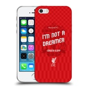 Official Liverpool Football Club Klopp Quotes Not A Dreamer Red Soft Gel Case For Apple Iphone 5 / 5S / Se