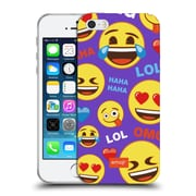 Official Emoji Flat Happy Faces Soft Gel Case For Apple Iphone 5 / 5S / Se