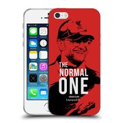 Official Liverpool Football Club Jurgen Klopp Smile Red Soft Gel Case For Apple Iphone 5 / 5S / Se