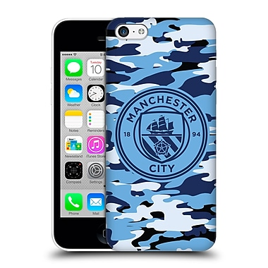 Official Manchester City Man City Fc Badge Camou Blue Moon Mono Hard Back Case For Apple Iphone 5C