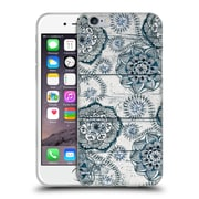 Official Micklyn Le Feuvre On Wood Shabby Chic Navy Blue Doodles Soft Gel Case For Apple Iphone 6 / 6S