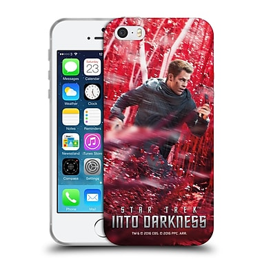 Official Star Trek Posters Into Darkness Xii Captain Kirk Soft Gel Case For Apple Iphone 5 / 5S / Se