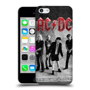 Official Ac/Dc Acdc Group Photo Black And White Studio Hard Back Case For Apple Iphone 5C