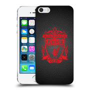 Official Liverpool Football Club Crest 2 Black Pixel 2 Hard Back Case For Apple Iphone 5 / 5S / Se