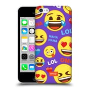 Official Emoji Flat Happy Faces Hard Back Case For Apple Iphone 5C