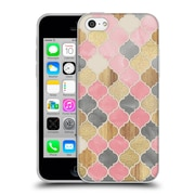 Official Micklyn Le Feuvre Quatrefoil 2 Moroccan Wood Pattern Soft Gel Case For Apple Iphone 5C