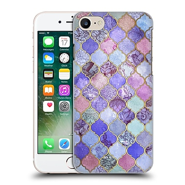 Official Micklyn Le Feuvre Moroccan Decorative Purple Hard Back Case For Apple Iphone 7