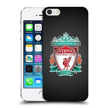 Official Liverpool Football Club Crest 2 Black Pixel 1 Hard Back Case For Apple Iphone 5 / 5S / Se