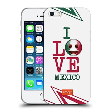 Official Emoji I Love My Country Mexico Soft Gel Case For Apple Iphone 5 / 5S / Se