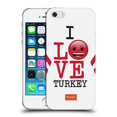 Official Emoji I Love My Country Turkey Soft Gel Case For Apple Iphone 5 / 5S / Se