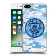Official Manchester City Man City Fc Badge Camou Light Blue Moon Mono Hard Back Case For Apple Iphone 7 Plus