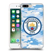 Official Manchester City Man City Fc Badge Camou Light Blue Moon Hard Back Case For Apple Iphone 7 Plus