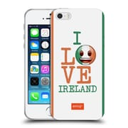 Official Emoji I Love My Country Ireland Soft Gel Case For Apple Iphone 5 / 5S / Se