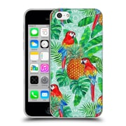 Official Micklyn Le Feuvre Summer Patterns Pineapples And Parrots Tropical Summer Soft Gel Case For Apple Iphone 5C