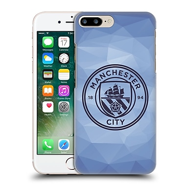 Official Manchester City Man City Fc Badge Geometric Blue Obsidian Mono Hard Back Case For Apple Iphone 7 Plus