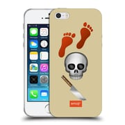 Official Emoji Movies And Series Red Footprints Soft Gel Case For Apple Iphone 5 / 5S / Se