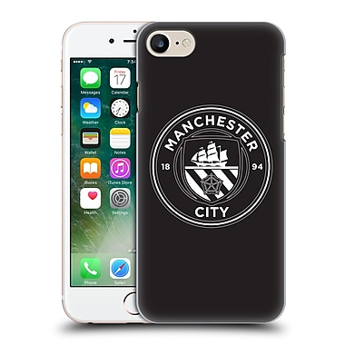 Official Manchester City Man City Fc Badge Black White Mono Hard Back Case For Apple Iphone 7
