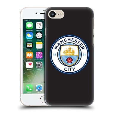 Official Manchester City Man City Fc Badge Black Full Colour Hard Back Case For Apple Iphone 7