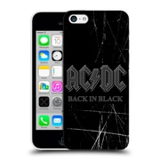 Official Ac/Dc Acdc Logo Back In Black Hard Back Case For Apple Iphone 5C