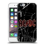 Official Ac/Dc Acdc Logo Red Grunge Soft Gel Case For Apple Iphone 6 / 6S