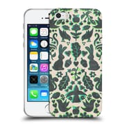 Official Micklyn Le Feuvre Animals Two Rabbits Folk Art Pattern Soft Gel Case For Apple Iphone 5 / 5S / Se