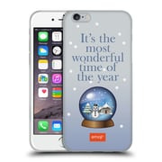Official Emoji Winter Quotes Snow Globe Soft Gel Case For Apple Iphone 6 / 6S