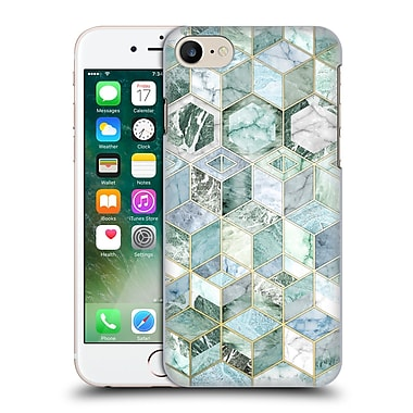 Official Micklyn Le Feuvre Marble Patterns Jade Honeycomb Hard Back Case For Apple Iphone 7