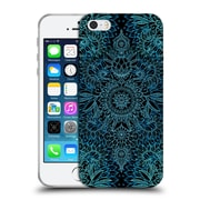 Official Micklyn Le Feuvre Doodle Patterns Black And Aqua Soft Gel Case For Apple Iphone 5 / 5S / Se