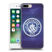 Official Manchester City Man City Fc Badge Geometric Obsidian White Mono Hard Back Case For Apple Iphone 7 Plus