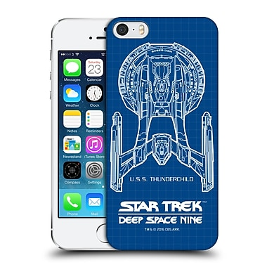 Official Star Trek Ships Of The Line Ds9 Uss Thunderchild Hard Back Case For Apple Iphone 5 / 5S / Se