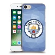 Official Manchester City Man City Fc Badge Geometric Blue Full Colour Hard Back Case For Apple Iphone 7